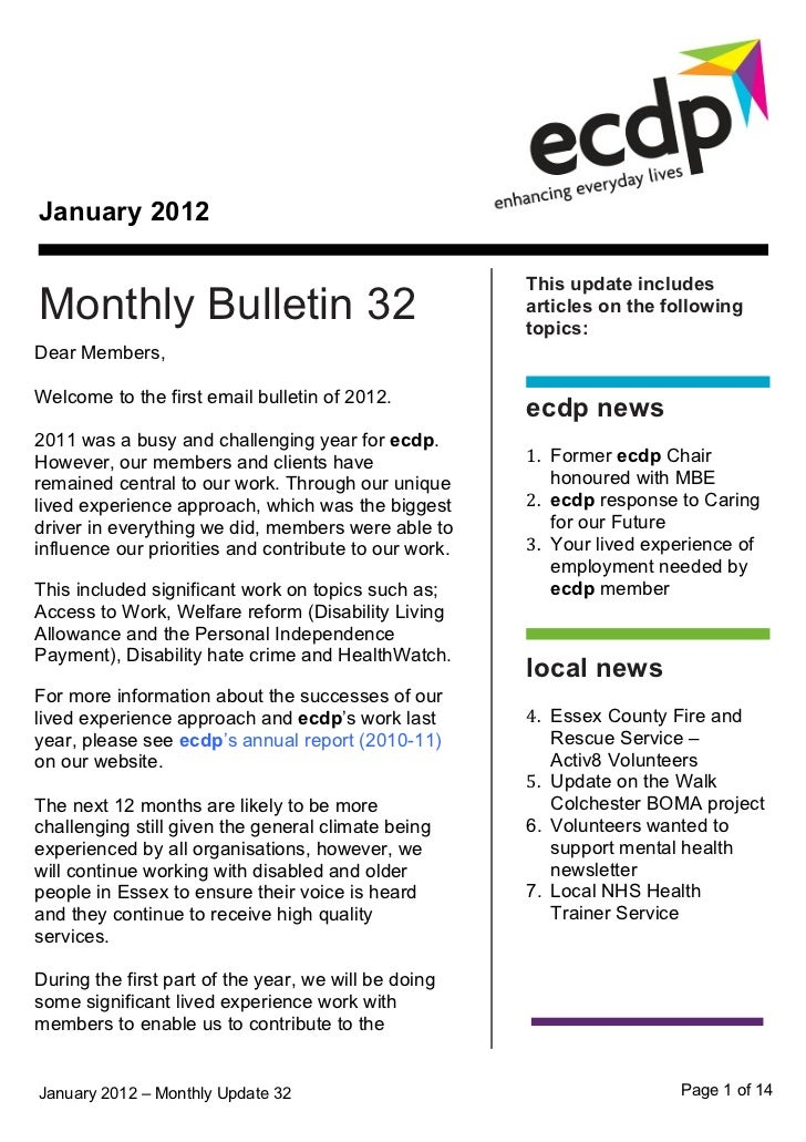 ecdp email bulletin 32