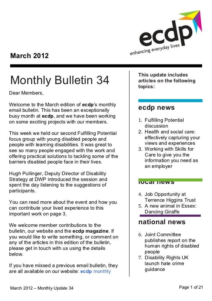 March 2012                                                       This update includesMonthly Bulletin 34                  ...