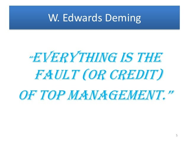 the granddaddy of total quality management tqm dr w edwards deming Dr edwards deming's 14 principles - in full dr w edwards deming's 14 principles - in full  quality management compliance quality manager, quality  number of suppliers for the same item by eliminating those that do not qualify with statistical and other evidence of quality the aim is to minimize total cost, not merely initial cost, by.