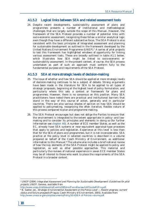 strategic environmental assessment of the integrated The environmental assessment of plans and programs (strategic environmental   the environmental assessment process is integrated in the administrative.
