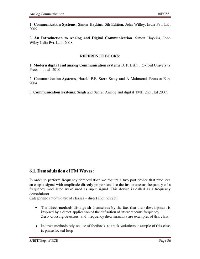 Ece Analog Communications