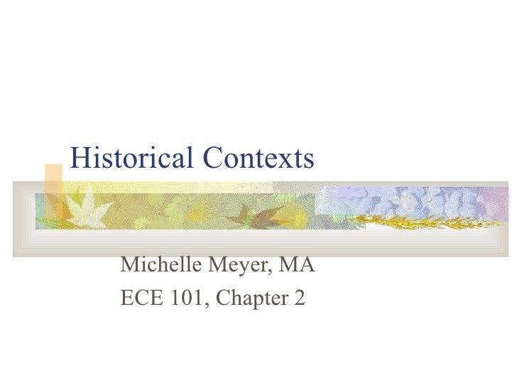 ECE 101 Historical Contexts