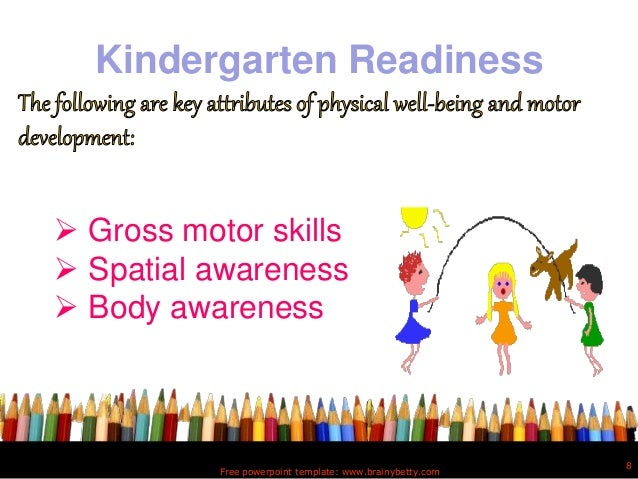 Kinder readiness kindergarten readiness free powerpoint template toneelgroepblik Image collections