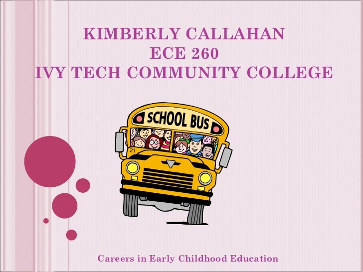 KIMBERLY CALLAHAN ECE 260 IVY TECH COMMUNITY COLLEGE Careers in Early Childhood Education