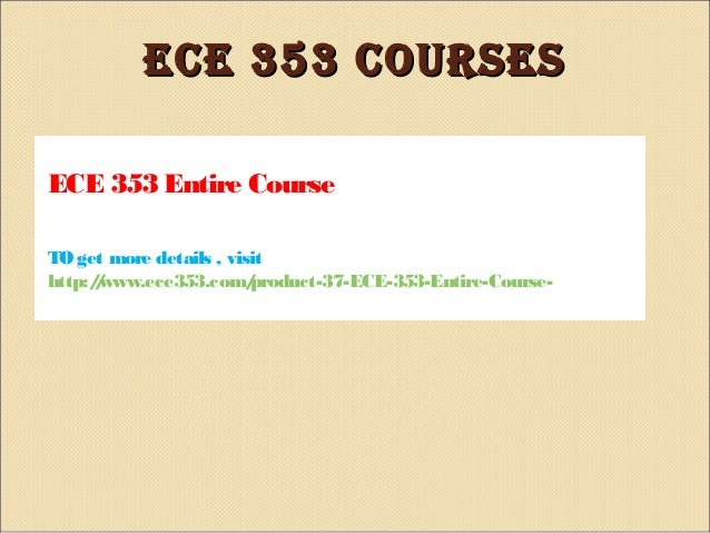 ECE 430 Week 3 DQ 2