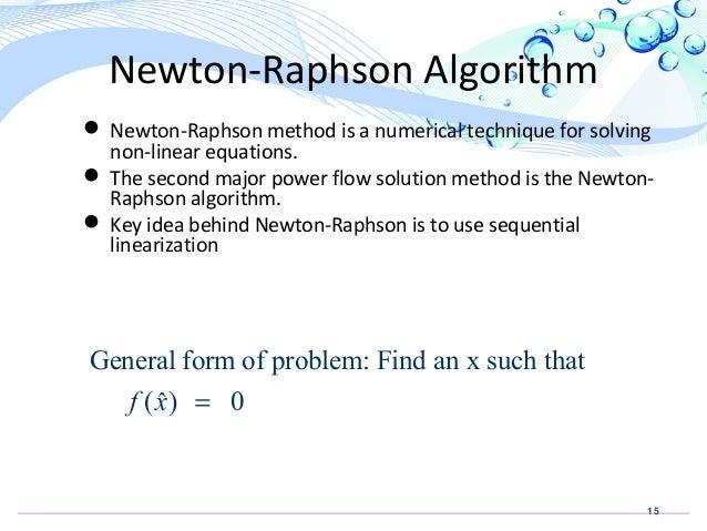 Newton raphson matlab load flow