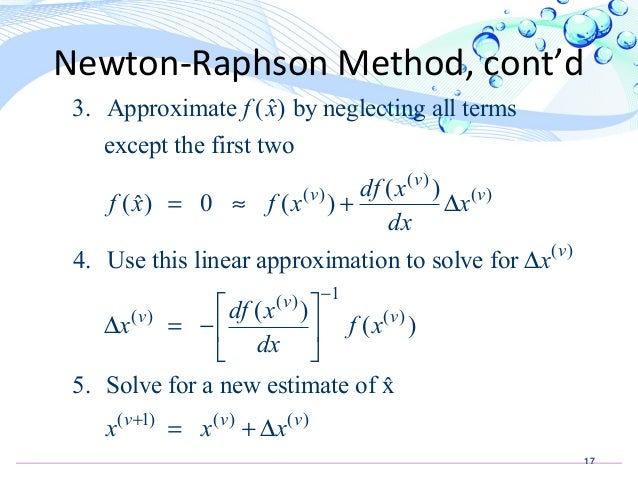 Newton Raphson method for load flow analysis