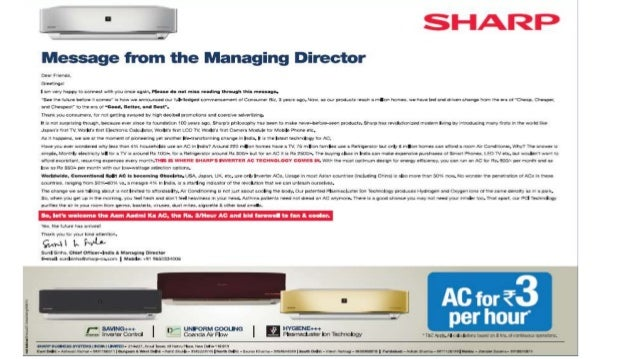 Sharp took the 2012 Diwali by Storm with this BOLD Campaign Attractive Positioning of AD AD and Campaign was completely de...