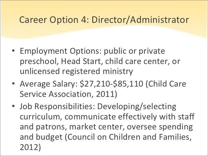 preschool director salary early childhood career opportunities 378