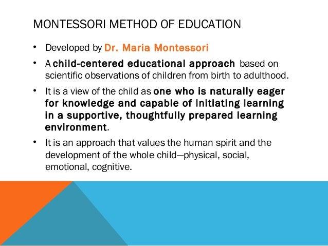 maria montessori philosophy of education pdf