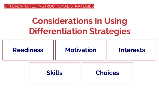 Differentiated Instructional Strategies Meeting The Needs Of All Chi