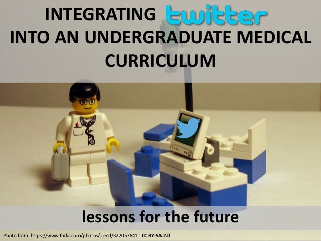 INTEGRATING  INTO AN UNDERGRADUATE MEDICAL  CURRICULUM  lessons for the future  Photo from: https://www.flickr.com/photos/...