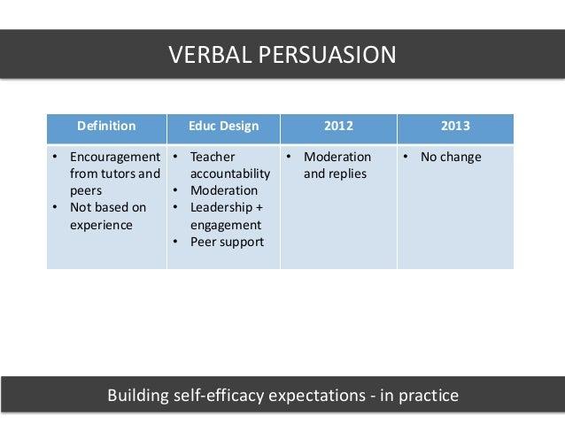 verbal persuasion