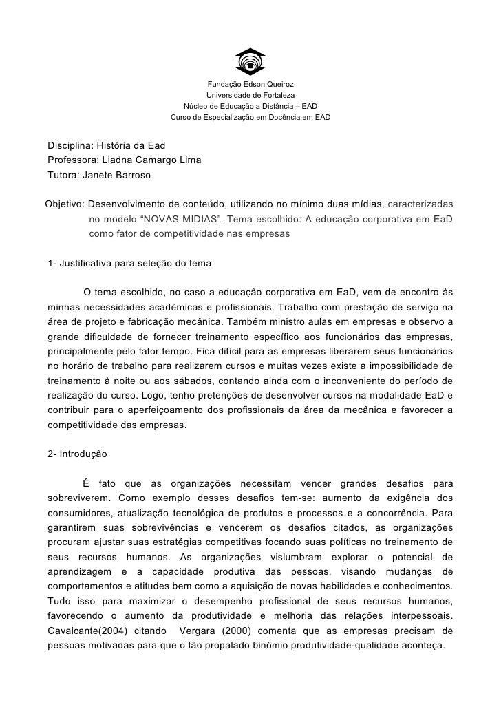 Fundação Edson Queiroz                                      Universidade de Fortaleza                               Núcleo...