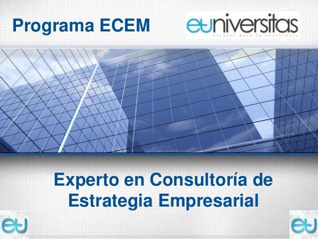 Programa ECEM   Experto en Consultoría de    Estrategia Empresarial