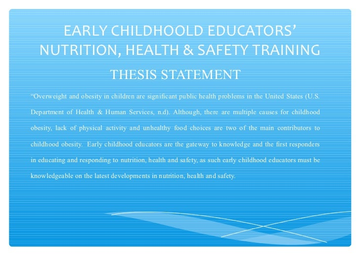Ece Nutrition Health Safety