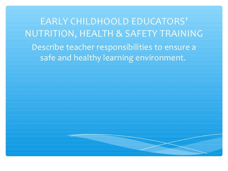 Thesis statement importance early childhood education