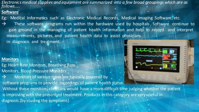 Electronic Equipments Used In Hospitals