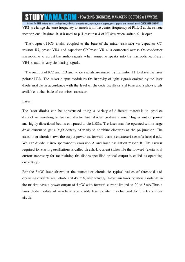 ece project report on laser based communication link free pdf downl\u2026we can adjust; 23