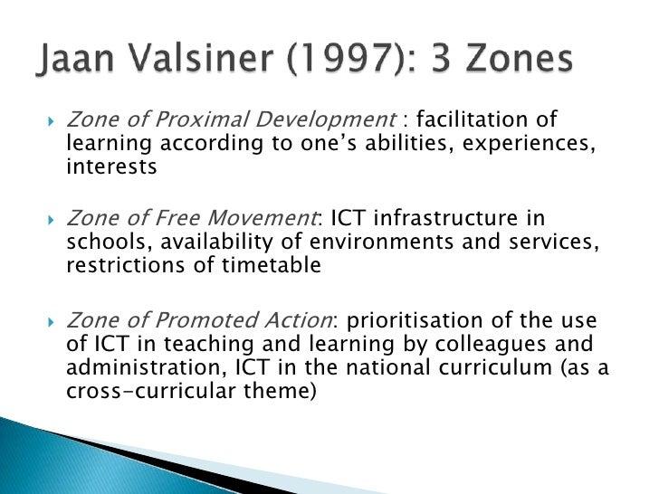 Zone of Proximal Development : facilitation of  learningaccordingtoone'sabilities, experiences, interests<br />Zone of Fre...