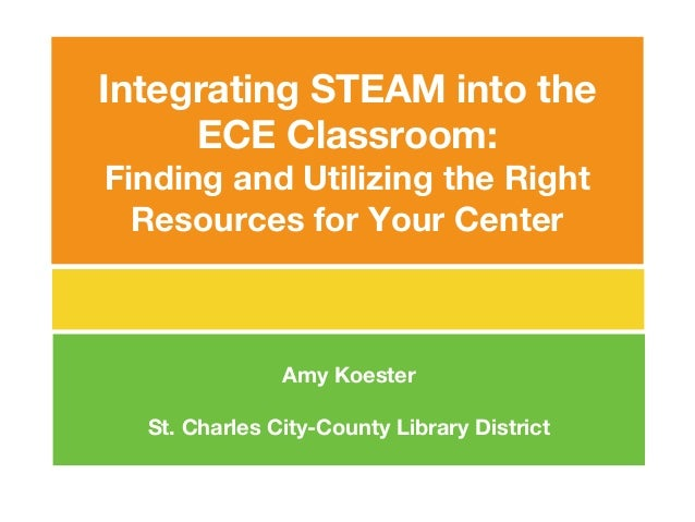 Integrating STEAM into the ECE Classroom: Finding and Utilizing the Right Resources for Your Center Amy Koester St. Charle...