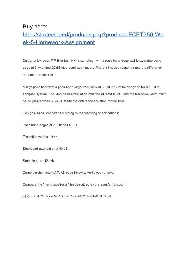 ECET350 Week 5 Homework Assignment