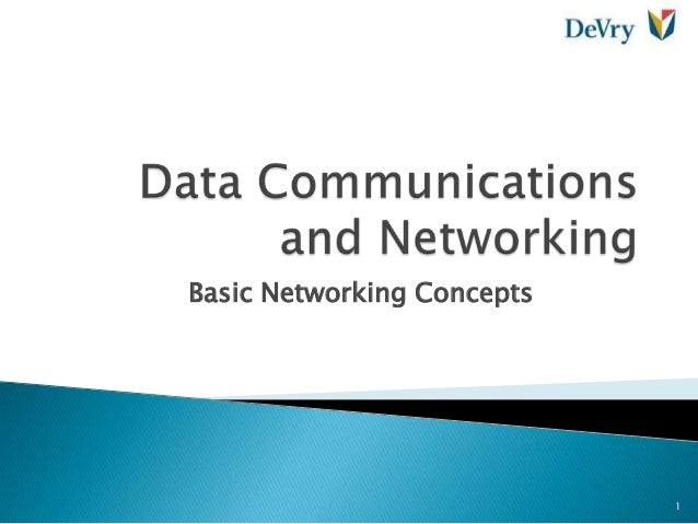 Basic Networking Concepts 1
