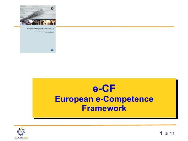 e-CF European e-Competence Framework