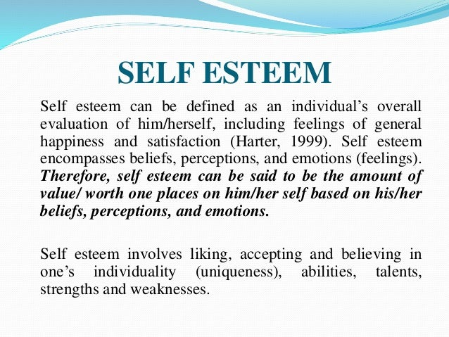 adolescence and self esteem Self esteem theory and measurement: a critical review in this paper, i first give an historical overview of the concepts of self, self-esteem, and adolescence.