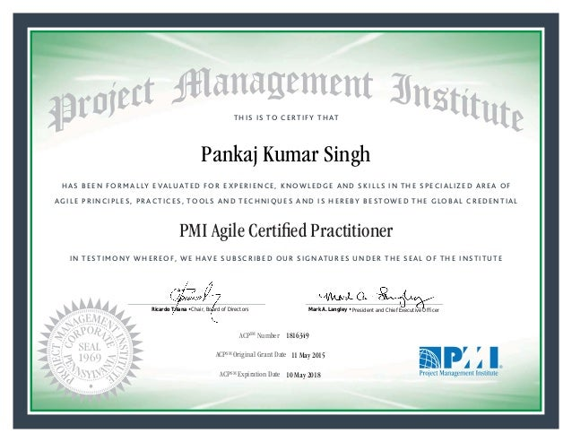 PMI ACP Certification