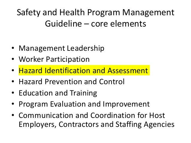 New Process And Equipment Hazard Assessment  Examples Of Framework