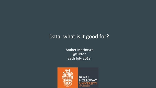 Data - what is it good for? Amber Macintyre at ECF Europe 2018