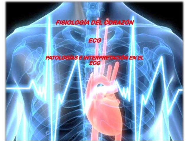 FISIOLOGÍA DEL CORAZÓN ECG PATOLOGÍAS E INTERPRETACIÓN EN EL ECG