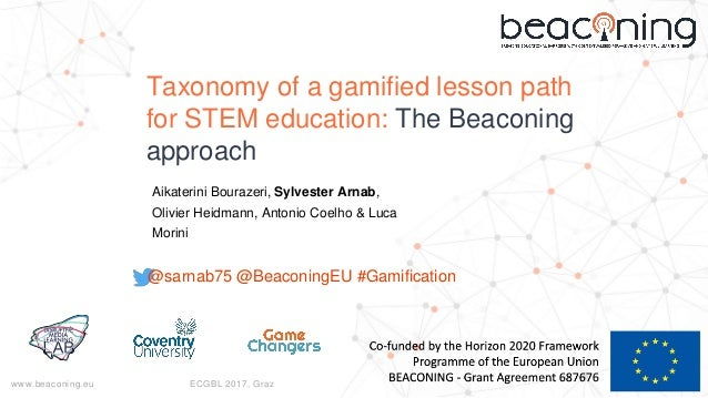 www.beaconing.eu ECGBL 2017, Graz Taxonomy of a gamified lesson path for STEM education: The Beaconing approach Aikaterini...
