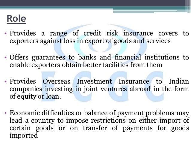 ECGC(Export Credit Guarantee Corporation)