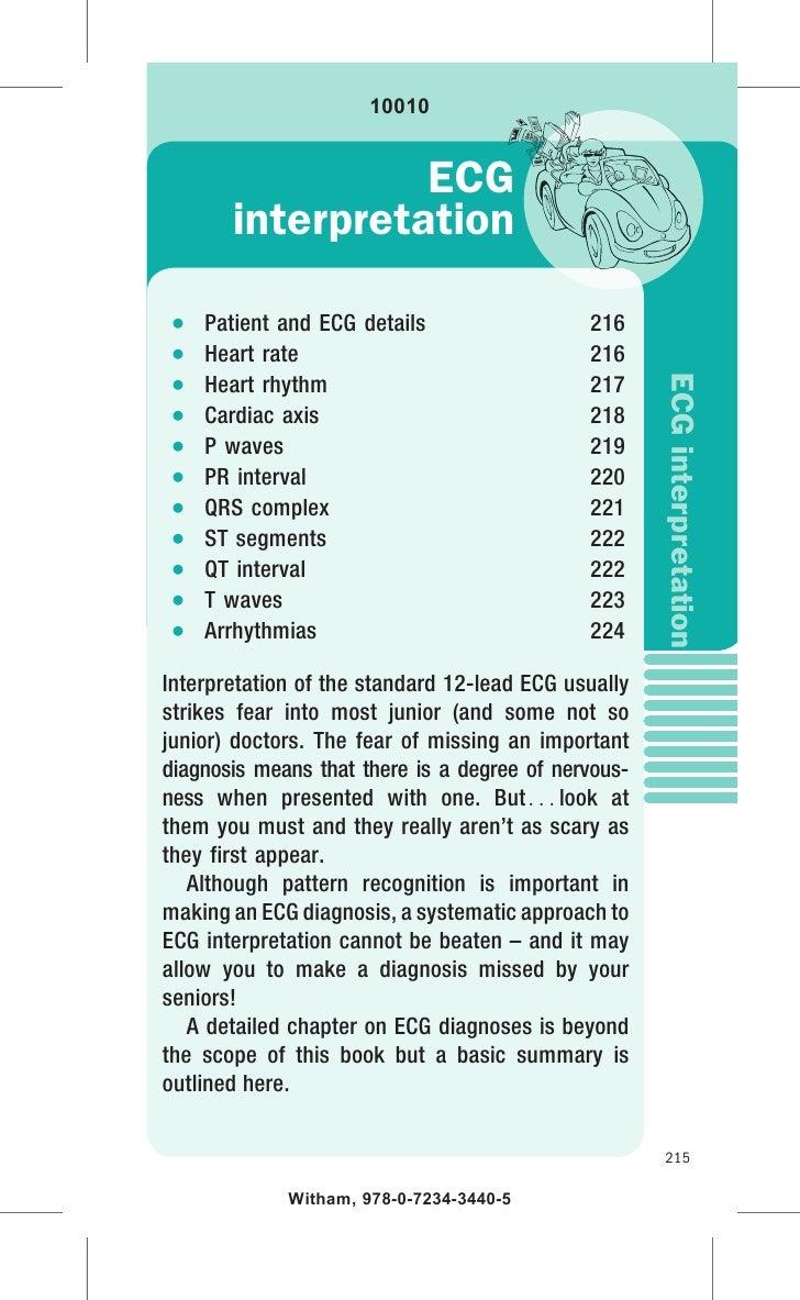 10010                 ECG       interpretation   Patient and ECG details                  216   Heart rate                ...