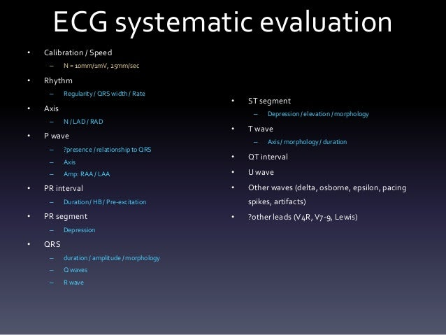 Systematic ECG Interpretation