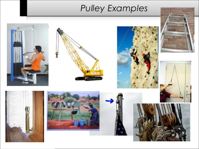 Examples Of Pulleys In The Home