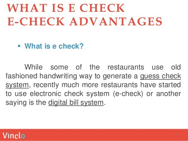 What Does Echeck Mean