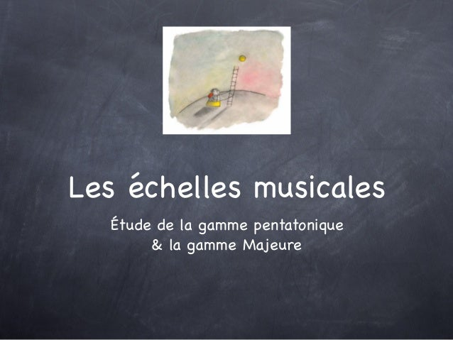 Étude de la gamme pentatonique & la gamme Majeure Les échelles musicales