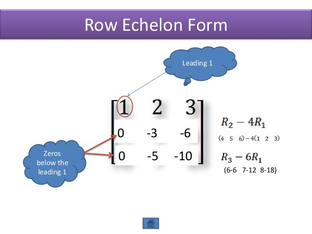 Echelon forms