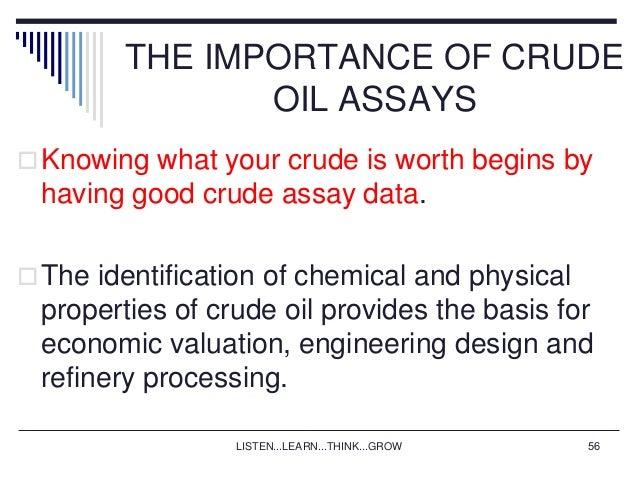 Crude Oil: Crude Oil Assay