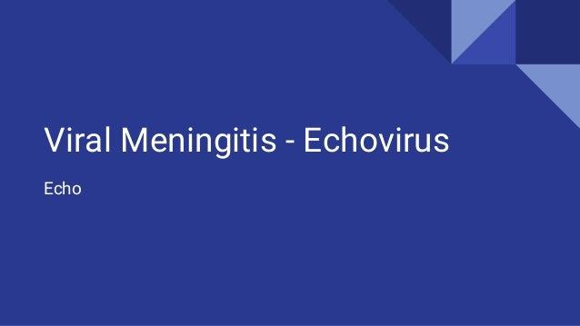Viral Meningitis - Echovirus Echo