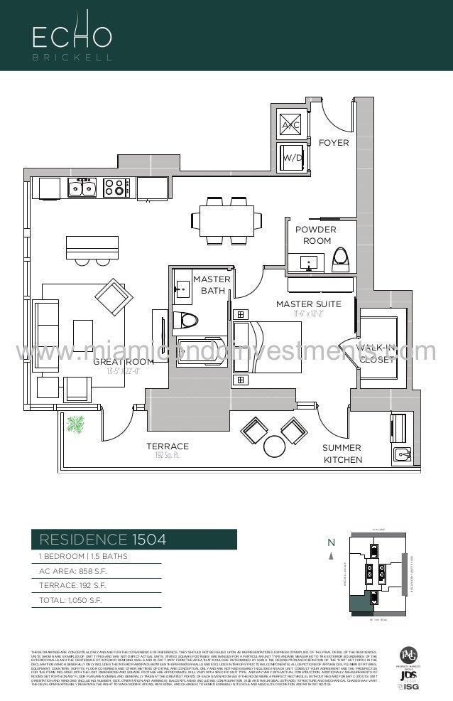 Echo brickell floor plans for 1050 brickell floor plans