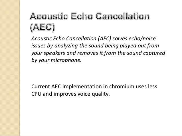 Echo in WebRTC