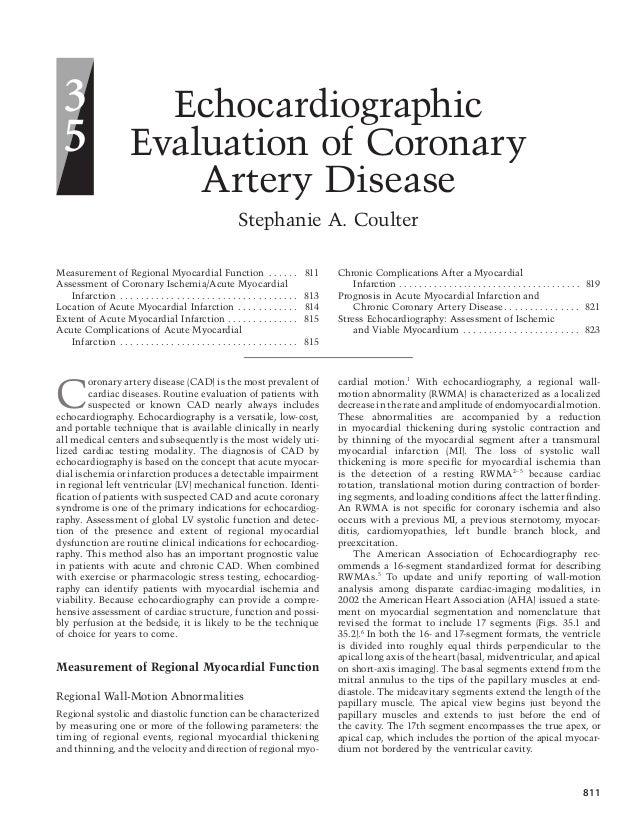Echo Assessment Of Coronary Artery Disease