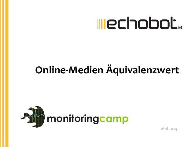 Mai  2014   Online-‐Medien  Äquivalenzwert