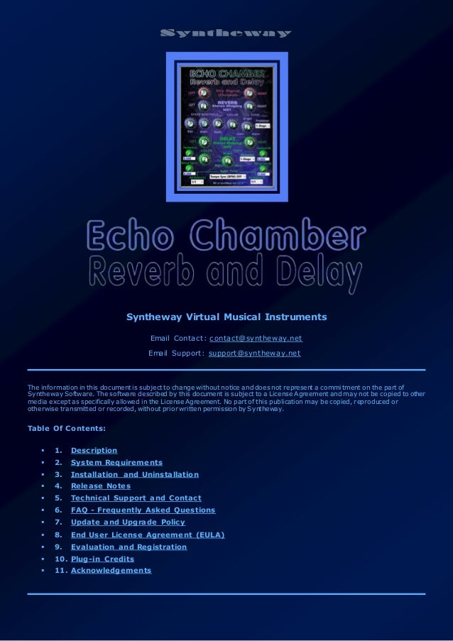Echo Chamber Reverb and Delay Effect VST + VST3 Plugins for Windows 6…