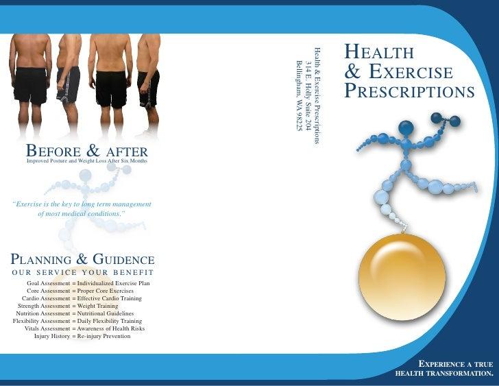 H ealtH                                                                Health  Exercise Prescriptions                     ...