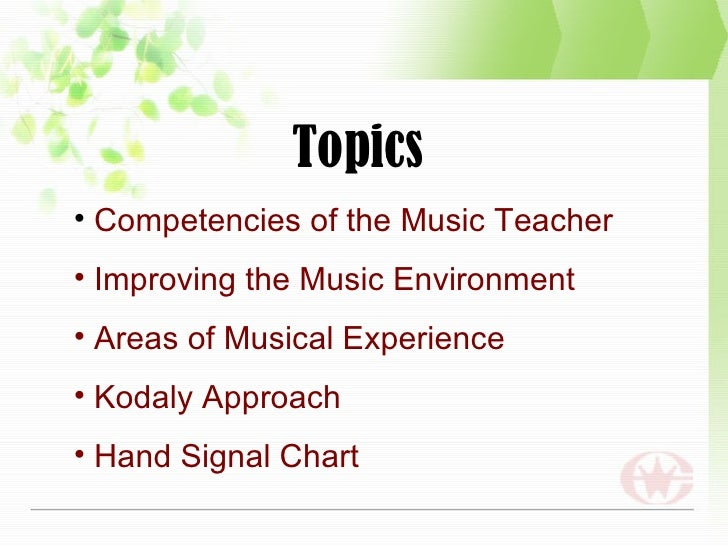 Teaching Strategies In Music
